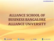 Alliance School of Business Bangalore|MBA|Alliance University