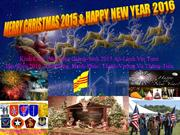MERRY CHRISTMAS 2015 & HAPPY NEW YEAR 2016