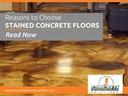 Why to Choose Concrete Staining Floors