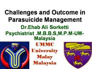 CHALLENGES IN PARASUICIDE MANAGEMENT