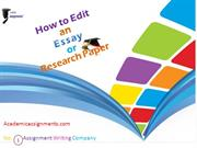 How to editing Essay and research paper