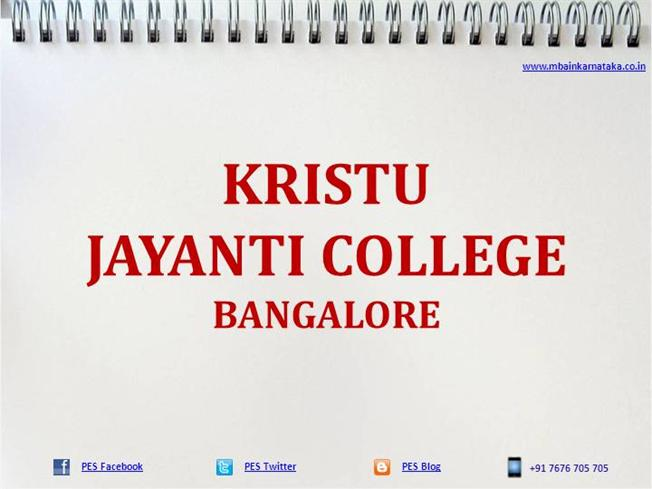 Kristu Jayanti College Bangalore|MBA|PGDM |authorSTREAM