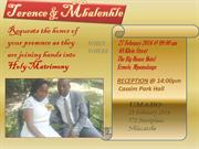 Terence wedding invite