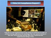 Title 24 Compliance Report