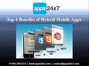 Top 4 Benefits of Hybrid Mobile Apps