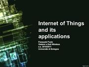 Internet of Things and its applications