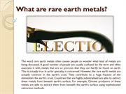 What are rare earth metals?