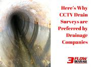 Here's Why CCTV Drain Surveys are Preferred by Drainage Companies
