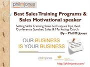 Best Sales Training Programs & Sales Motivational speaker