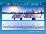Solar Power Energy DFW