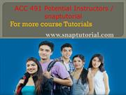 ACC 491 Academic Success / snaptutorial.com
