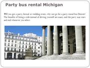 Party bus rental Michigan