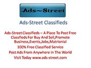 Free Classified Service(ads-street.com)