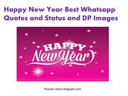 New year 2016 DP Whatsapp Status and Quotes with Full Collection