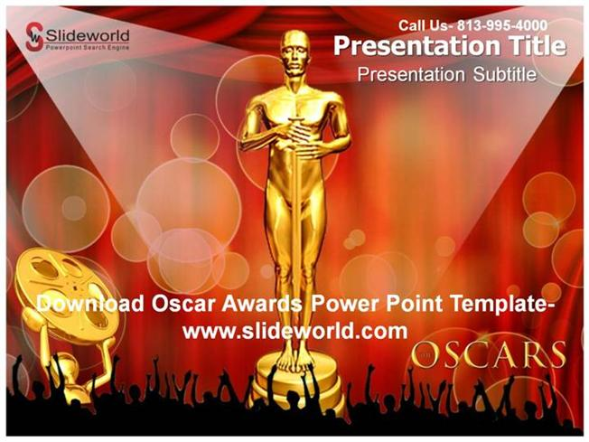 get online oscar awards powerpoint template |authorstream, Modern powerpoint