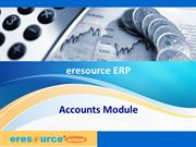 Accounts Module- eresource Xcel ERP(ERP for Manufacturing)