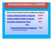 Permanent Residency in CANADA PDF