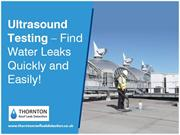 Ultrasound Testing for Water Leak Detection in UK