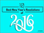 10 Best New Year's Resolutions of 2016