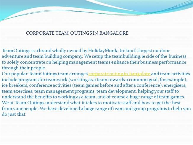 team outing email template