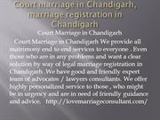 Court marriage in Chandigarh, marriage registration in