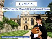Campus ERP Software to Manage Universities & Colleges