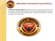 Affordable Locksmith In Newport Beach Orange County