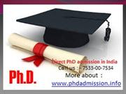 PhD | Indian Institute of Technology @ +91-7533-00-7534