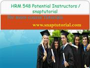 HRM 548 Proactive Tutors / snaptutorial.com