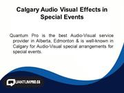 Calgary Audio Visual Effects in Special Events