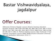 Bastar Vishwavidyalaya Distance Education jagdalpur