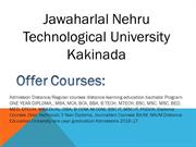 Jawaharlal Nehru Technological University Distance Education Kakinada