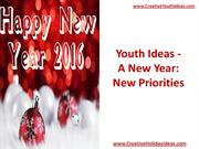 Youth Ideas - A New Year - New Priorities