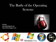 Battle of the Operating Systems Powerpoi