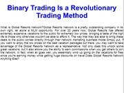 Binary Trading Is a Revolutionary Trading Method