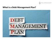 Mark C. Lesinski Hamburg NY  - What is a Debt Management Plan?