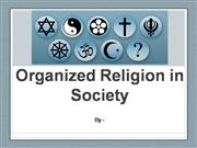Organized Religion in Society
