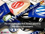 Developers share most probable risk factors for WordPress CMS