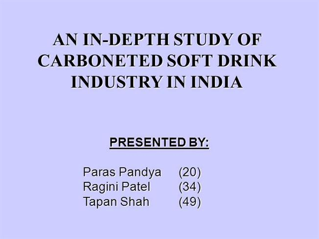 soft drink industry in india