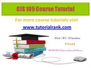 CIS 105 Potential Instructors / tutorialrank.com