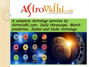 Daily Horoscope, Match prediction, Indian and Vedic Astrology