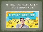 Making and Keeping New Year Resolutions