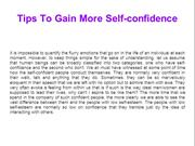 Tips To Gain More Self-confidence