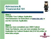Admissions & Financial Report