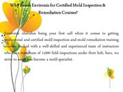 Mold Testing Certification Training Courses
