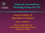 Local Funding of Operations Activities