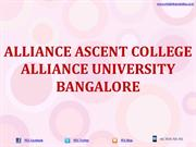 Alliance Ascent College Bangalore Alliance University