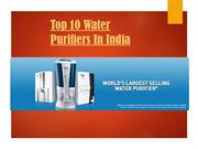 Top 10 Water Purifiers In India