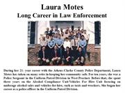 Laura Motes - Career in Law Enforcement