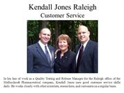 Kendall Jones Raleigh Customer Service